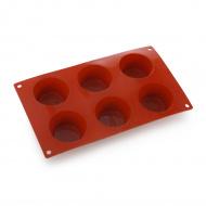 Форма для выпечки Средний маффин, 6 элементов Silicon Flex [SF023/S]