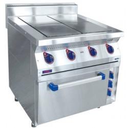 Плита электрическая ABAT ЭПК-47ЖШ четырехконфорочная с жарочным шкафом (лицевая нерж, серия 700) - интернет-магазин КленМаркет.ру
