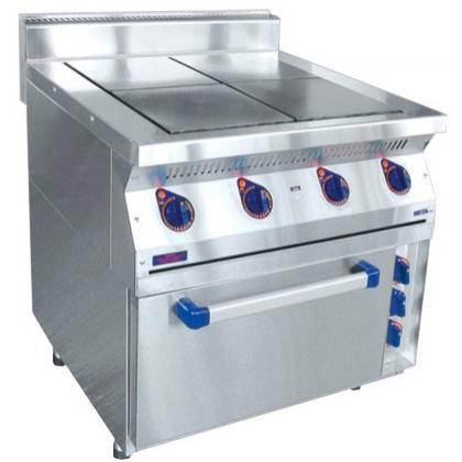 Плита электрическая ABAT ЭПК-47ЖШ четырехконфорочная с жарочным шкафом (полностью нерж, серия 700) - интернет-магазин КленМаркет.ру
