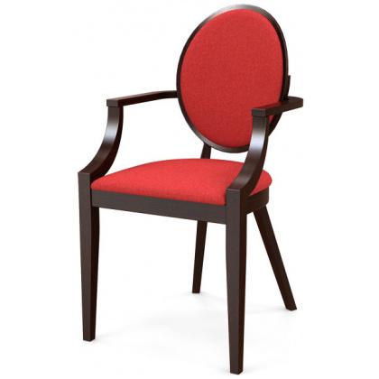 Стул «Ницца» с мягким сиденьем и подлокотниками (деревянный каркас) - интернет-магазин КленМаркет.ру
