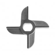 Нож 2-х сторонний для мясорубки МИМ-300 без бурта никель