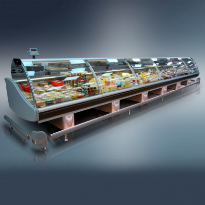 Витрина холодильная «Диона» ВС 21-375 - интернет-магазин КленМаркет.ру