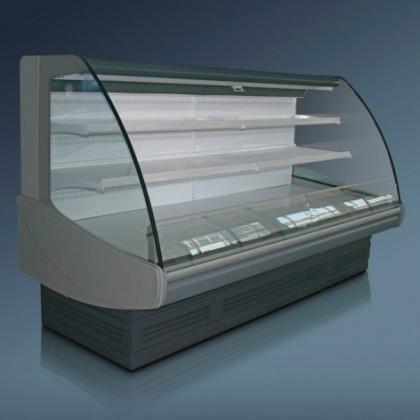 Витрина холодильная «Диона» ВС 21Т-375 вентилируемая - интернет-магазин КленМаркет.ру