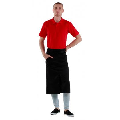 Футболка-поло мужская красная с коротким рукавом  - интернет-магазин КленМаркет.ру