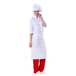 Фартук шеф-повара белый [00300] - интернет-магазин КленМаркет.ру