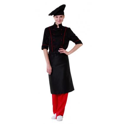Фартук шеф-повара черный [00300]  - интернет-магазин КленМаркет.ру