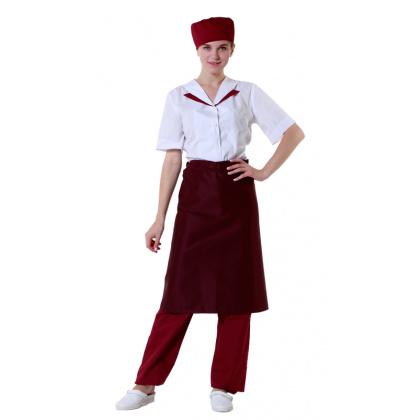 Фартук шеф-повара бордовый [00300] - интернет-магазин КленМаркет.ру