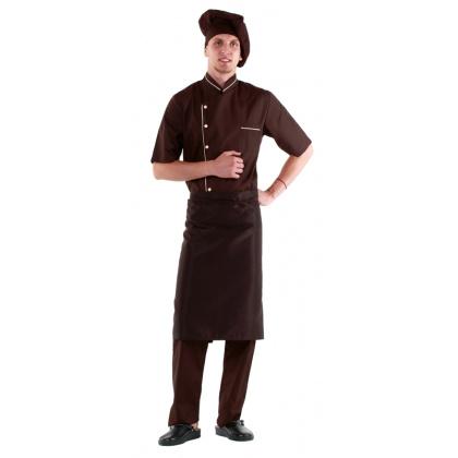 Фартук шеф-повара коричневый [00300]  - интернет-магазин КленМаркет.ру