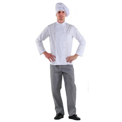 Куртка шеф-повара белая мужская [00001] - интернет-магазин КленМаркет.ру