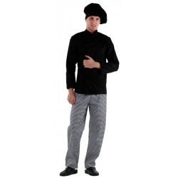 Куртка шеф-повара черная мужская [00001] - интернет-магазин КленМаркет.ру