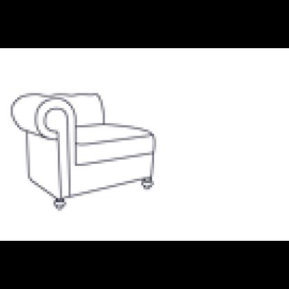 Кресло «Честер Люкс» с правым (левым) локотником - интернет-магазин КленМаркет.ру