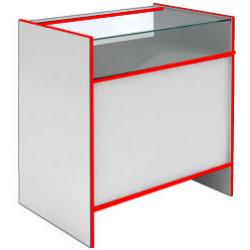Прилавок со стеклянным верхом S60120 GS STEP (кромка красная) - интернет-магазин КленМаркет.ру