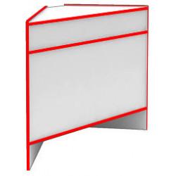 Прилавок угловой внешний S6060 NZ STEP (кромка красная) - интернет-магазин КленМаркет.ру