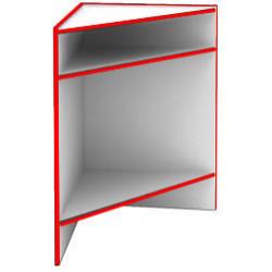 Прилавок угловой внутренний S6060 NW STEP (кромка красная) - интернет-магазин КленМаркет.ру