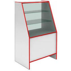Прилавок-витрина демонстрационный S 6090 V STEP (кромка красная) - интернет-магазин КленМаркет.ру