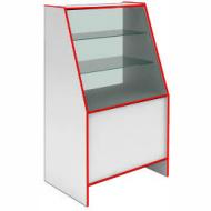 Прилавок-витрина демонстрационный S 6090 V STEP (кромка красная)