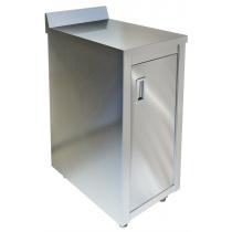 Стол-тумба пристенный ТЕХНО-ТТ СПС-224/408 нерж (дверь распашная)