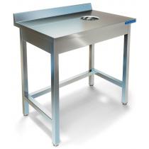 Стол пристенный для сбора отходов ТЕХНО-ТТ СПС-222/900 нерж (отверстие слева/справа)