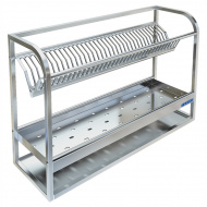 Полка настенная для сушки посуды ТЕХНО-ТТ ПН-328/900 (на 35 тарелок и 50 стаканов)