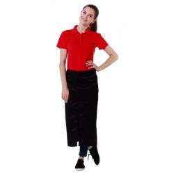 Футболка-поло женская красная с коротким рукавом - интернет-магазин КленМаркет.ру