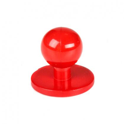 Пукли красные, пластик 10 шт - интернет-магазин КленМаркет.ру