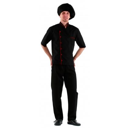 Брюки повара летние универсальные черные [00200] - интернет-магазин КленМаркет.ру