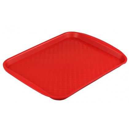 Поднос столовый из полипропилена 330х260 мм красный [4660011181431] - интернет-магазин КленМаркет.ру