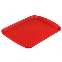 Поднос столовый из полипропилена 330х260 мм красный [4660011181431]