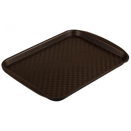 Поднос столовый из полипропилена 330х260 мм коричневый [4660011181455] - интернет-магазин КленМаркет.ру