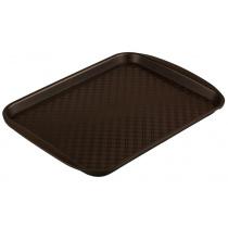 Поднос столовый из полипропилена 330х260 мм коричневый [4660011181455]