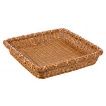 Корзинка пластиковая 450х450х80 мм квадратная коричневая [Brown 5502]