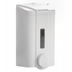 Дозатор для жидкого мыла с индикатором бело-серый [S4] - интернет-магазин КленМаркет.ру