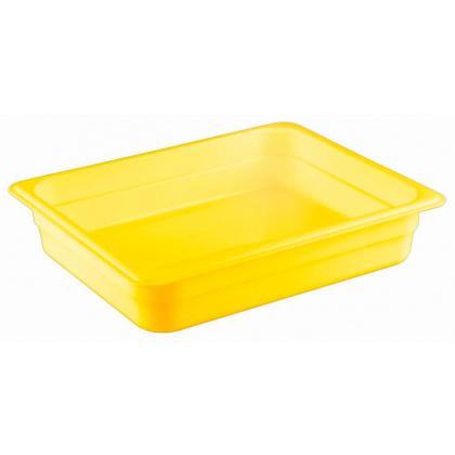 Гастроемкость из полипропилена без крышки GN 1/2 325х265x65 мм желтая [422107406] - интернет-магазин КленМаркет.ру