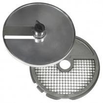 Диски (решетка+слайсер) для нарезки кубиками 50х70х25 мм для ROBOT COUPE R502, CL50, CL50Ultra, CL52, CL55, CL60 (зеленый салат) [28180]