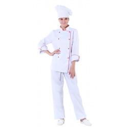 Куртка шеф-повара белая женская с манжетом [00006]  - интернет-магазин КленМаркет.ру