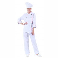 Куртка шеф-повара белая женская с манжетом [00006]