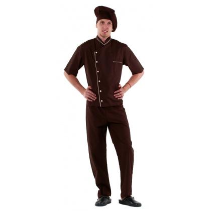 Куртка шеф-повара (диагональ) коричневая [00003] - интернет-магазин КленМаркет.ру