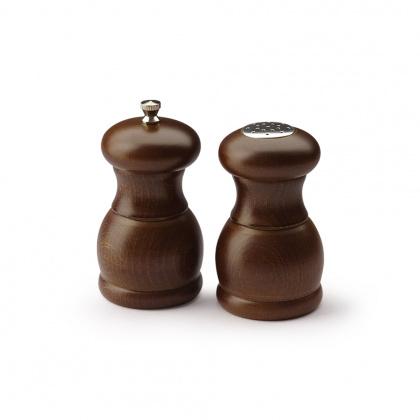 Мельница для перца и солонка 115 мм PEPPERSTYLE BY BISETTI темное дерево [53/53ST] - интернет-магазин КленМаркет.ру