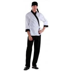 Куртка сушиста белая с отделкой черного цвета [00007]  - интернет-магазин КленМаркет.ру