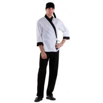 Куртка сушиста белая с отделкой черного цвета [00007]