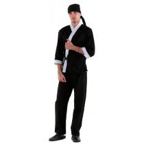 Куртка сушиста черная с отделкой белого цвета [00007]