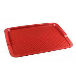 Поднос столовый из полипропилена 425х320 мм красный [4660011181608] - интернет-магазин КленМаркет.ру