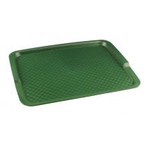 Поднос столовый из полипропилена 425х320 мм зеленый [4660011181639]