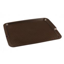 Поднос столовый из полипропилена 425х320 мм коричневый [4660011181660] - интернет-магазин КленМаркет.ру