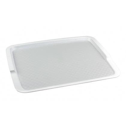 Поднос столовый из полипропилена 425х320 мм белый [4660011181677] - интернет-магазин КленМаркет.ру