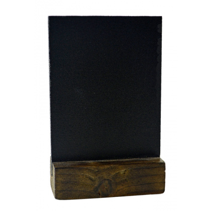 Меловая табличка А7 на деревянной подставке - интернет-магазин КленМаркет.ру