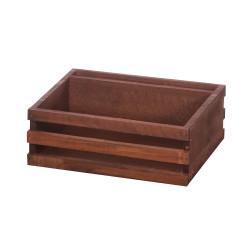 Ящик для сервировки деревянный с отделением для салфеток 200х160 мм - интернет-магазин КленМаркет.ру