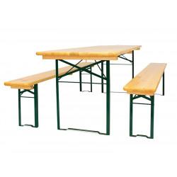 Комплект складной мебели (стол 2200х700 мм. и лавка 2 шт.) - интернет-магазин КленМаркет.ру