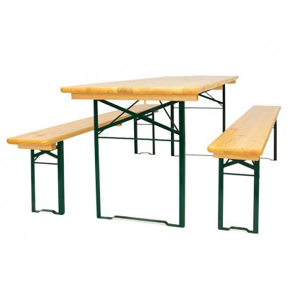 Комплект складной мебели (стол 2200х500 мм. и лавка 2 шт.) - интернет-магазин КленМаркет.ру