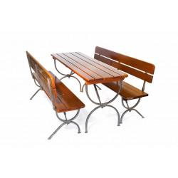 Комплект складной мебели (стол 1800х600 мм. и скамья 2 шт.) Вишня - интернет-магазин КленМаркет.ру